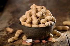bowl of shelled peanuts